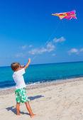 Boy with kite. — Stock Photo