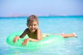 Boy playing in the sea — Stock Photo