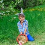 Little boy wearing bunny ears — Stock Photo #73237689