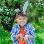Little boy wearing bunny ears — Stock Photo #73238349