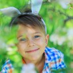 Little boy wearing bunny ears — Stock Photo #73238425