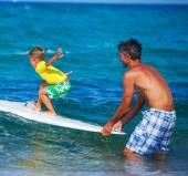 Boy surfing — Stock Photo
