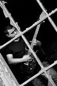 Rock guitaris — Stock Photo