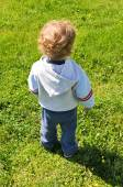 Rear view of a child — Stock Photo