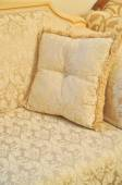 Seat detail and pillows — Foto de Stock