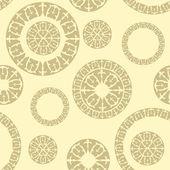 Nahtlose muster mit elementen der russischen ornamente — Stockvektor
