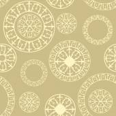 Seamless pattern with  elements of Russian ornaments — Stock Vector
