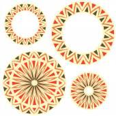 Russian circular ornament — Stockvector