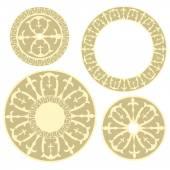 Russian circular ornament — Stock Vector