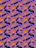 Seamless Halloween pattern — Stock Photo