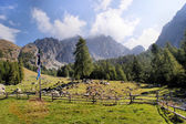 Mountain landscape in the Sarntal Alps — Stock Photo