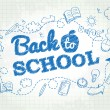 Back to school poster with doodles — Vector de stock  #51908023