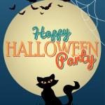 Happy Halloween Party poster — Stock Vector