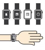 Smartwatch with Icons — Vetorial Stock