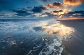 Sunrise over North sea coast — Stock Photo