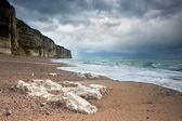 Stormy weather over Normandy coast — Stock Photo