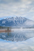 Karwendel Alps reflected in Barmsee  — Stock Photo