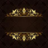 Gold border — Stock Vector