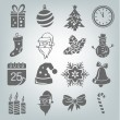 Set of Christmas icons — Stock Vector #70399427