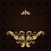 Ornate gold border — Stock Vector