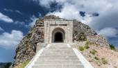 Stairway leading to tunnel and mausoleum of Peter Njegosh, Monte — Stock Photo