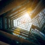 Photo of modern building atrium with shining sun — Stock Photo #58642321