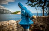 Photo of coin operated telescope at old fortress — Stock Photo