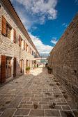 Old stone citadel on sea coast at city of Budva, Montenegro — Stock Photo