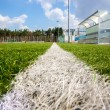 Shot from marking line of soccer field at sunny day — Stock Photo #61240063