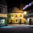 View of old narrow street in Austrian cite at night — Stock Photo #64413745