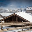 Traditional resort in Austrian Alps covered by snow — Stock Photo #64646035