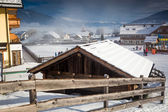 Traditional resort in Austrian Alps covered by snow — 图库照片