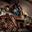 Scene of medieval battle at museum at Salzburg castle — Stock Photo #66683225