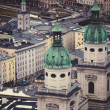 View from high point on roofs of city Salzburg, Austria — Stock Photo #66683341