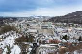 View on Salzburg from the tower of Hohensalzburg castle — Stock Photo