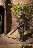 Closeup shot of knight puppet doll in Salzburg museum — Stock Photo