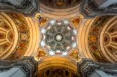 Painted ceiling of dome at Salzburg cathedral — Stock Photo