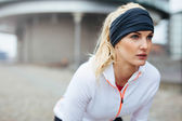 Motivated and focused sporty woman — Stock Photo