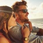 Couple enjoying the beach view. — Stock Photo #74126821