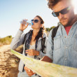 Couple on country walk together — Stock Photo #75511695