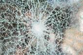 Crushed window — Stock Photo