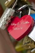 Love padlock — Stock Photo