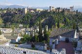 Sunset in Alhambra — Stock Photo