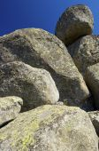 Rock formation and blue sky — Stock Photo