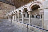Romanesque cloister — Stock Photo