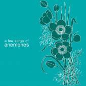 A few sprigs of anemones — 图库矢量图片
