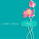 Water lilies — Stock Vector