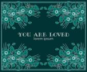 You are loved — Stock Vector