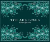 You are loved — Stockvektor