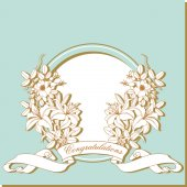 Vintage card with flowers around the frame. — Vector de stock